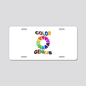 Color Genius Aluminum License Plate